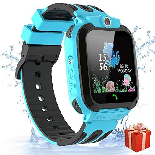 Vannico Reloj Smartwatch para Niños, Teléfono Relojes Inteligentes Niños Impermeable IP68 LBS, Hacer Llamada, Voz Chat, SOS, Modo de Clase, Cámara, Juegos, Regalo para Niños de 3-12 Años
