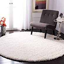 SAFAVIEH Fontana Shag Collection FNT800A Solid Non-Shedding Living Room Bedroom Dining Room Entryway Plush 2-inch Thick Area Rug, 5'3