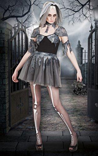 Boland- Costume Donna Sposa Cadavere Gothic Bride per Adulti, Grigio, Taglia 36/38, 79042
