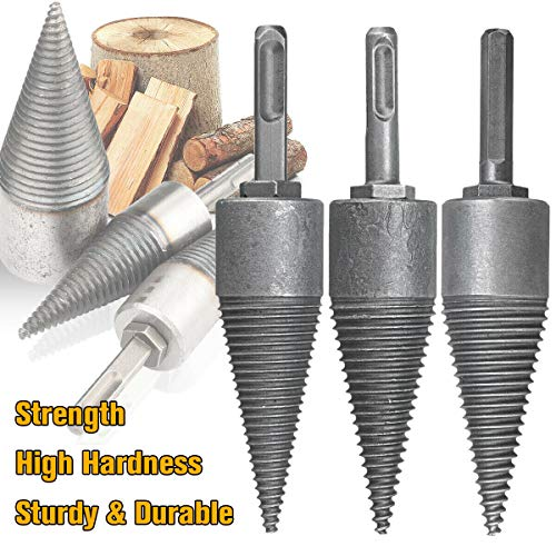 Lowest Prices! YWNYT Firewood Log Splitter Drill, Wood Splitter Drill Bits,Heavy Duty Drill Screw Co...