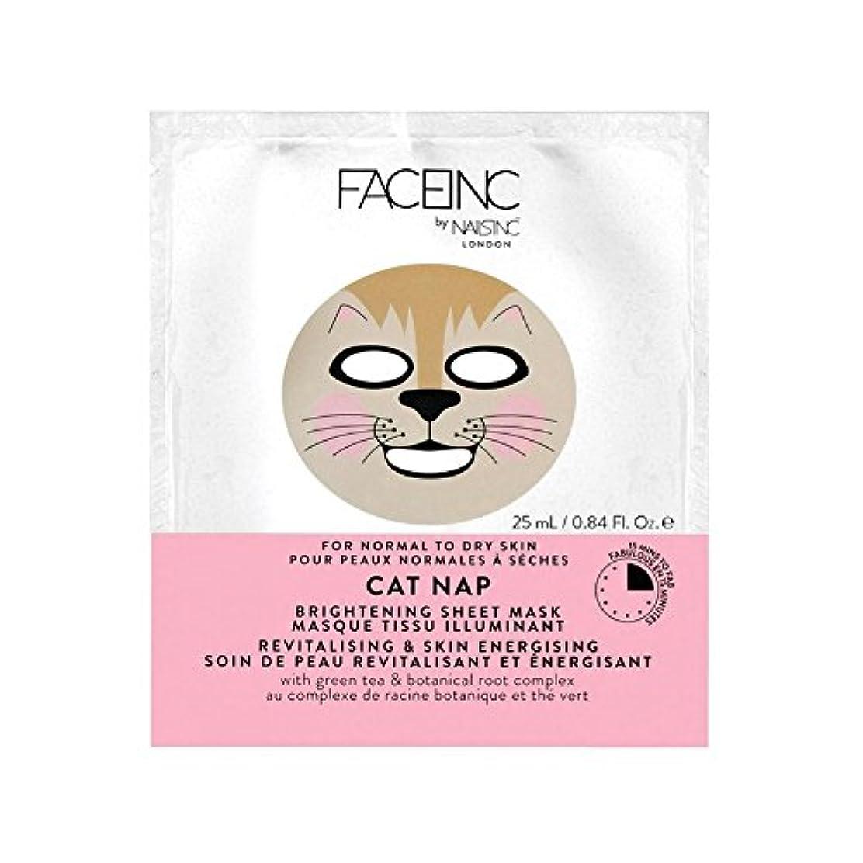 店員ライオン元に戻すNails Inc. Face Inc Cat Nap Mask (Pack of 6) - 爪が株式会社顔猫の昼寝用マスク x6 [並行輸入品]
