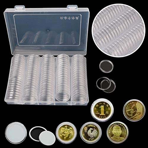 Storage Boxes & Bins - 30mm Coin Holder Capsule Storage Box With Two White Pad Rings Display Cases Organizer Collectibles - Bins Boxes Storage Storage Boxes Bins Adapter Velvet Bread Acog Ring