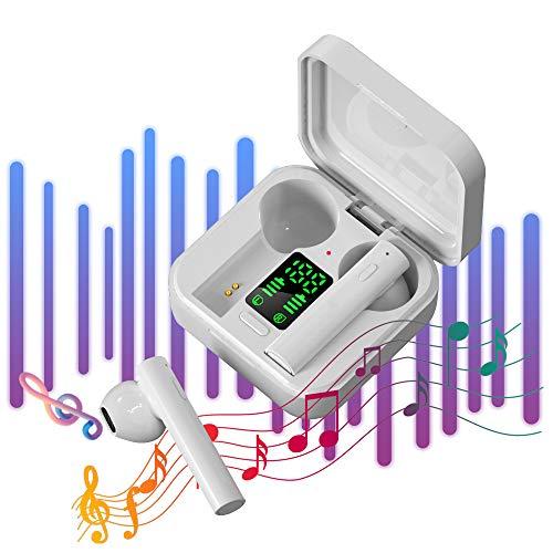 Cascos Inalambricos Bluetooth Auriculares Deportivos - IPX4 Impermeable Cascos Bluetooth 5.0 In-Ear,Pantalla LED,Correr con MicróFono,CancelacióN De Ruido