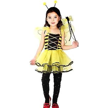 Disfraz de abeja para niña vestida con traje de apina de carnaval ...