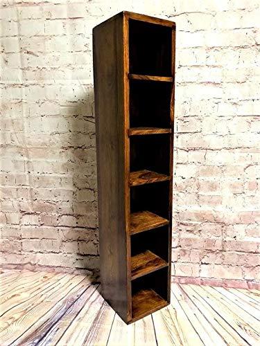 『木製ディスプレイボックス (CDラック)』 【スリム家具 シェルフ スリムラック CDラック 木製シンプルCDラック 家具 隙間家具 アンティーク風 ウッドラック 棚 おしゃれ かわいい 北欧 ラック 収納ラック ボックス】