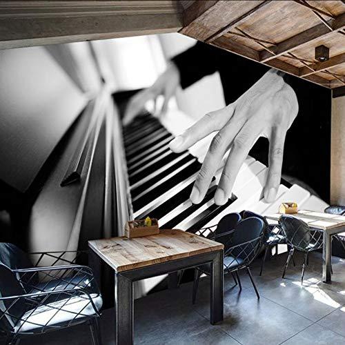 Dalxsh 3D-Fototapete Benutzerdefinierte Retro Persönlichkeit Stil Freizeit Bar Ktv Europa Und Amerika Sofa Hintergrundbild Klavier Wandbild-200X140Cm