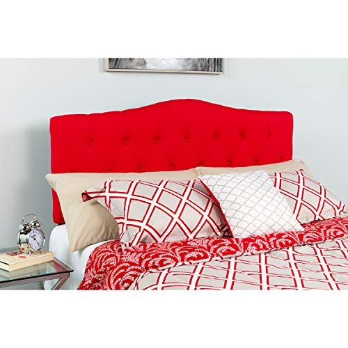 Flash Furniture Cambridge Tufted Upholstered Twin Size Headboard in Red Fabric
