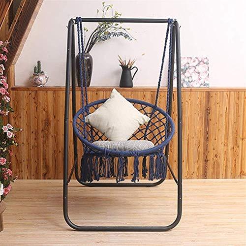 Dirgee Silla Mecedora del hogar Swing Colgando Cestas para niños Soporte para niños (Color: Azul) (Color : Blue)