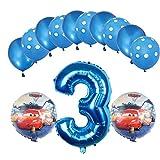 ENXI Globos Mcqueen Ellos 1 Set Autos Lightning 32 Pulgadas Números Balloon Set 13pcs / Set Movilización de automóviles Baby Boy Cumpleaños Fiesta de decoración Suministros ( Color : Olive )