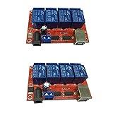 B Blesiya Módulo de relé de 4 canales USB, placa de control con AC 250 V 10 A, DC 30 V 10 A, capacidad de contacto de relé