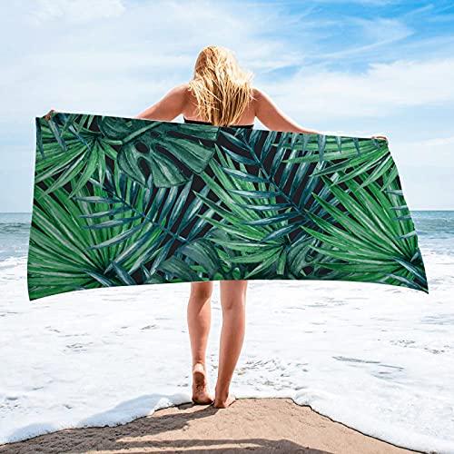 Toallas De Playa De Impresión Digital De Alta Definición De La Serie De Plantas Tropicales, Toallas De Microfibra, Toallas De Baño Absorbentes De Secado Rápido, Tapetes De Playa 75 * 150cm