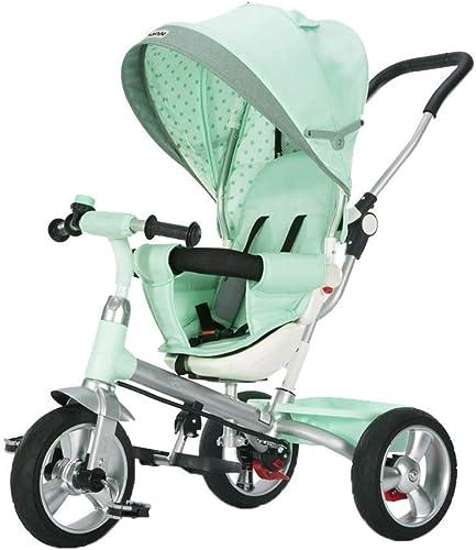opciones a bajo precio Yuany Triciclo, Triciclo Multifuncional 4 en 1 1 1 con Asiento Giratorio, Triciclo Exterior para bebé de 1-6 años, verde, 105 x 75 x 51 cm  diseñador en linea