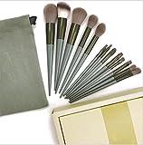 Four Seasons Green Juego de brochas de Maquillaje de Secado rápido Cepillo Lavable Cabello Súper Suave 13 Brochas de Rubor en Polvo