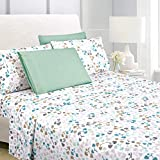 """American Home Collection 6 Piece Bed Sheet Set Super Soft Brushed Microfiber - 14"""" Deep Pocket - Wrinkle Resistant - Hypoallergenic (Queen, Multi Heart)"""