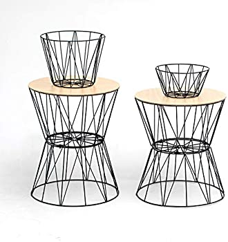 Superlife Small Convertible Metal Round Coffee Tables