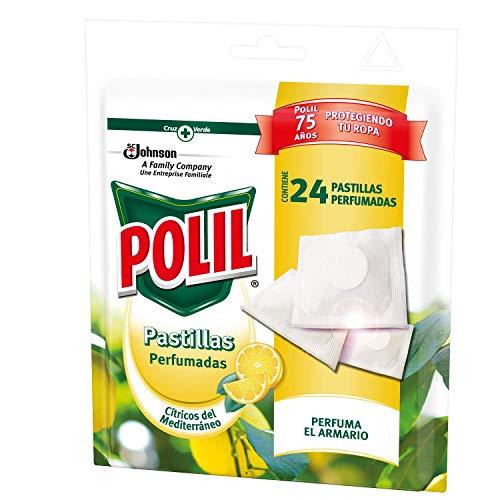 Polil® Pastillas Perfumadas Antipolillas con Aroma Cítricos Del Mediterraneo, 24