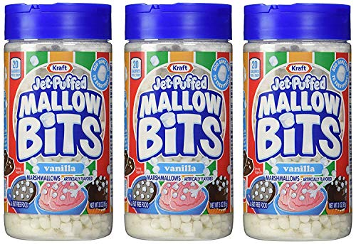 Kraft Jetpuffed Mallow Bits Vanilla Flavor Marshmallows 3 OZ Bottles Pack Of 3  PACK OF 2