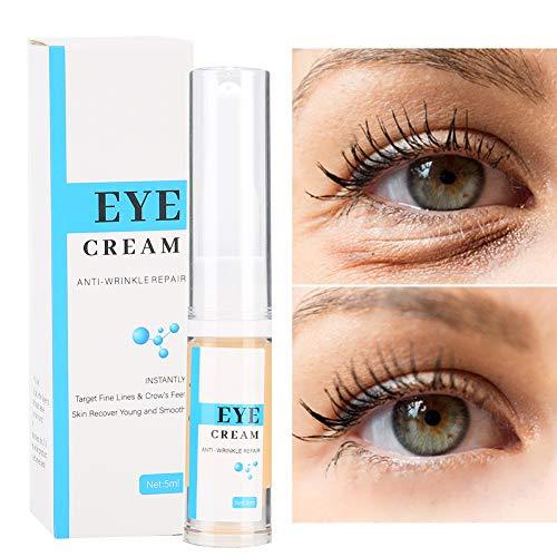5 ml de crème pour les yeux anti-âge, sérum d'acide hyaluronique sérum anti-âge pour les yeux à l'acide hyaluronique, crème pour les yeux anti-rides, soin des yeux à l'acide hyaluronique contre les ri