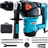 ENEACRO 1-1/4 Inch SDS-Plus 12.5 Amp Heavy Duty Rotary Hammer Drill, Safety Clutch 3...
