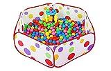 Demarkt Ball Pool Folding Ball Tent Baby Hexagon Polka Dot Play House Crush Pit Indoor Play Tent for Kids