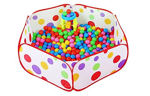 Jingyuu Schwimmbad mit Bällen, für Kinder, Spielzelt, Baby, tragbar, Baby, Ozean-Kugel, Pool 115×60×36cm M-115×60×36cm