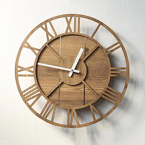 LINGZHIGAN Horloge murale décorative créative Retro Clock Chambre Salle d'étude Living Kid 40cm (Couleur : C)