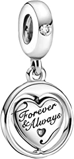 Pandora People Spinning Forever & Always Soulmate Charm Pendant Sterling Silver Size: 1.26 cm