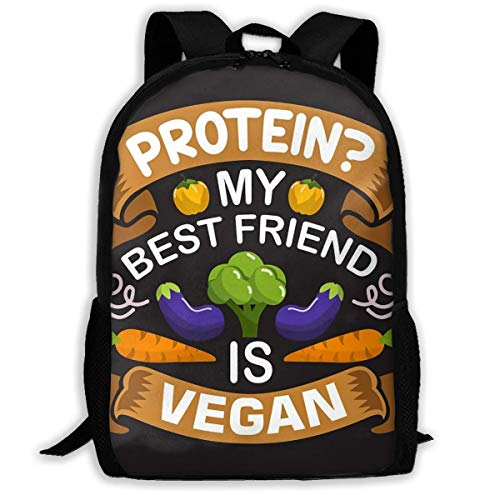 huatongxin School Backpack Vegan Quote and Saying Good 04 Bookbag Casual Travel Bag for Teen Boys Girls