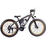 RXRENXIA Bicicleta Eléctrica De La Bici De Montaña Eléctrica De 26 Pulgadas Fat Tire E-Bike 21 Velocidades Frenos Crucero De La Playa para Hombre De Los Deportes De Montaña