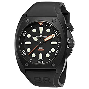 Bell & Ross Marine Automatic Mens Watch Br02-92-Carbon-Pro