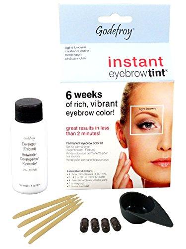 Godefroy InstantEyebrowTint, Augenbrauen - Färbeset für Endverbraucher, hellbraun, 1er Pack (1 x 4...