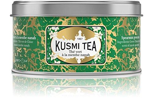 Kusmi Tea Grüner Tee mit Minze - Heiß oder Eisgekühlt Genießen - Traditionell Durstlöschender Tee mit Gunpowder Grüntee und Minzblättern - 125 g Metalldose (etwa 50 Tassen)