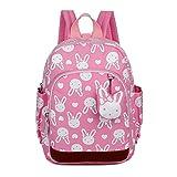 Uworth Mochila Escolar Infantil Guarderia Niña Mochila Para Niños Conejo (Rosa)