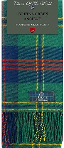 I Luv Ltd Gretna Green Ancient Tartan Clan Scarf 100% Soft Lambswool