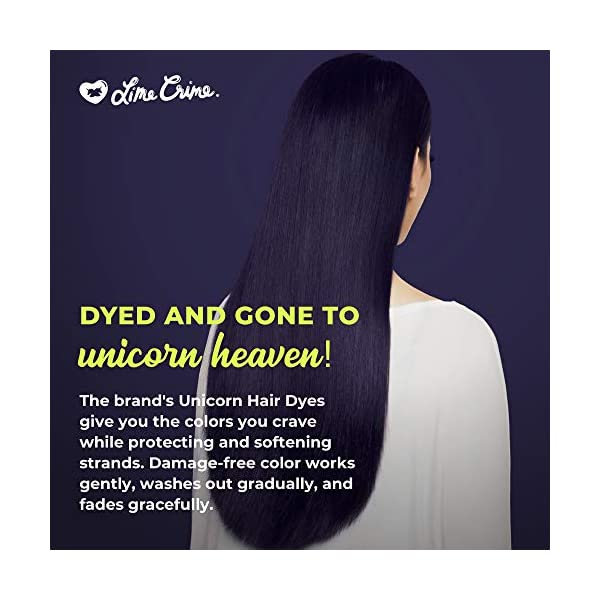 Lime Crime Unicorn Hair Dye, Squid - Dark Purple Fantasy Hair Color - Full Coverage, Ultra-Conditioning, Semi-Permanent… 6