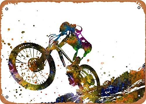 LuckyUNN Metallschild – Mountainbike – Metallposter Vintage Blechschilder Wandposter