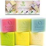 Organic Soap Body Bath Bars - 6 Pc Natural...