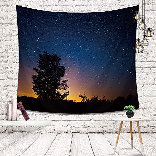 Tapiz de Cielo Nocturno Tapiz de casa Nebulosa romántica Cosmos Grandes Estrellas Ver Tapiz de Imagen Tapiz de Paisaje Tapices para Colgar en la Pared