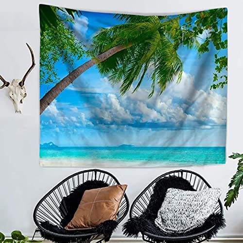 Tapiz De Mar De Coco Colgante De Pared Dormitorio Sala De Estar Decoración De Pared Tapices De Tiro Estera De Yoga Toalla De Playa Manta Mantel 150X200Cm
