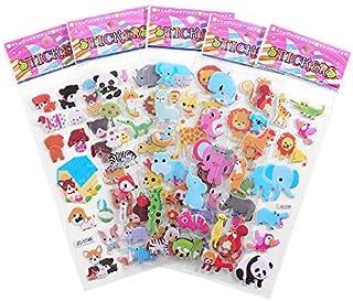 LAIYYI 3D bubbelklistermärken, tredimensionellt tecknat djur vattentäta puffiga klistermärken för gör-det-själv scrapbook ...