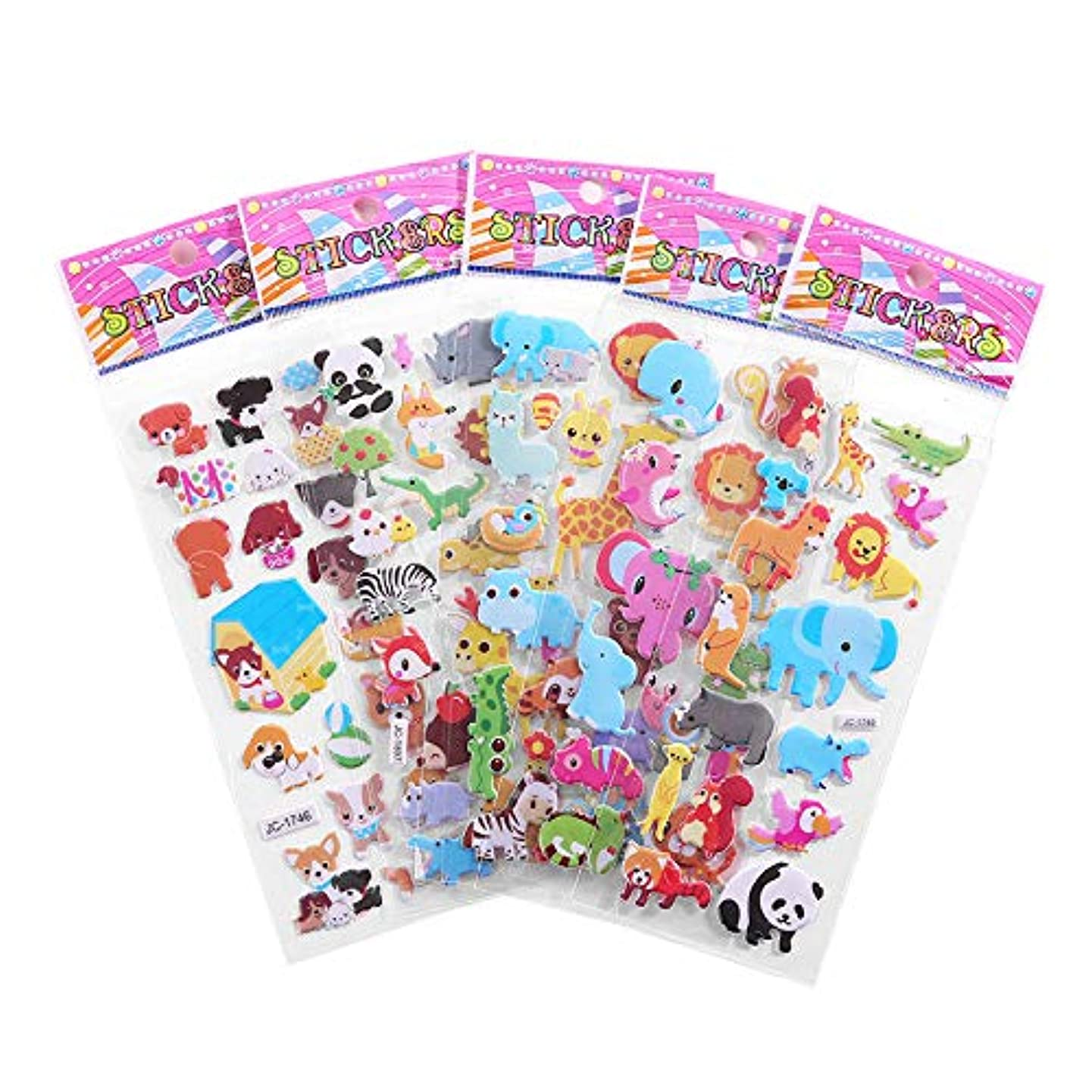 xinyankeying Kids Bubble Stickers 10 Sheets , 3D Puffy Stickers with Good Adhesion and Removable Lables ,Bulk Stickers for Kids Gift and Scrapbooking bziqdaaahdzx