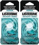 Listerine Ready Tabs tabletas masticables con sabor a menta limpia, 8 unidades (paquete de 2)