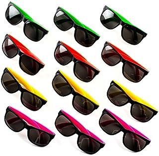 Neliblu Neon Bulk Kids Sunglasses Party Favors - 24 Pack - Bulk Pool Party Favors, Goody Bag Fillers, Beach Party Favors, Bulk Party Pack of 2 Dozen