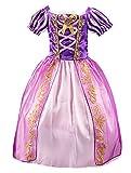 Beunique Niña Princesa Rapunzel Vestido de Disfraz Niños 3-8 Años Morado Vestido de Princesa Navidad Carnaval Ceremonia Actuación Cosplay para Halloween