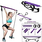 Pilates Bar with Resistance Band - Home Gym...