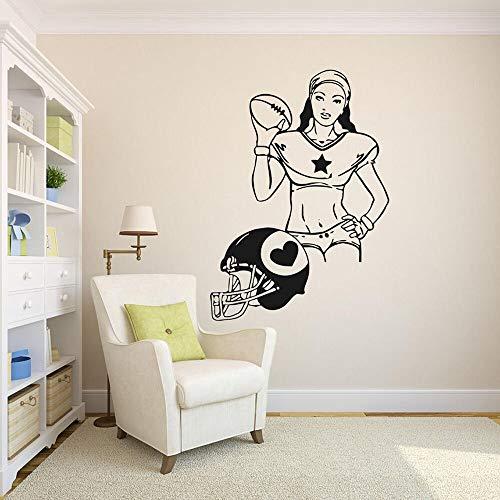 Softbol chica pared calcomanía fútbol deportes vinilo pared pegatina hogar dormitorio niña niño habitación decoración Accesorios