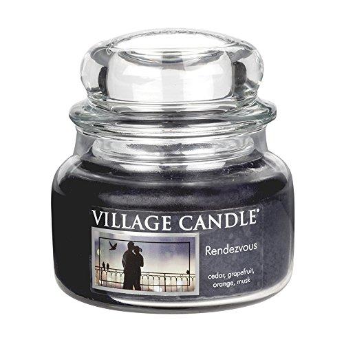 Village Candle 106311812 Rendezvous Pot de Verre, Bleu, 10,2 x 10,1 x 10,6 cm