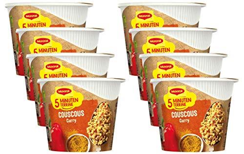Maggi Magic Orient Couscous Curry, leckeres Fertiggericht, Instant-Nudeln, aromatisch-pikant, mit Gemüse verfeinert, 8er Pack (8 x 70g)
