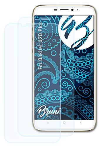 Bruni Schutzfolie kompatibel mit Oukitel U20 Plus Folie, glasklare Bildschirmschutzfolie (2X)