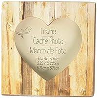 "Kate Aspen""Rustic Romance"" Faux Wood Heart Place Card Holder/Photo Frame [並行輸入品]"